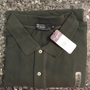 New With Tags!  4X Olive Green Ralph Lauren Polo